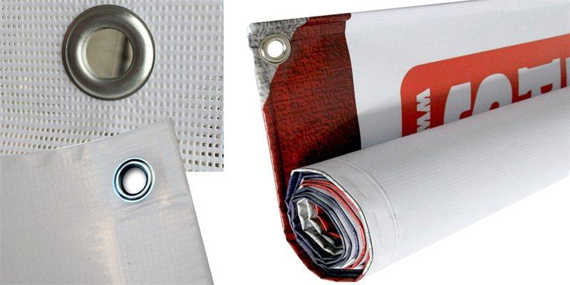 Meshbanner, Werbebanner, PVC Banner, Ösen, Baustellenbanner, Zaunbanner