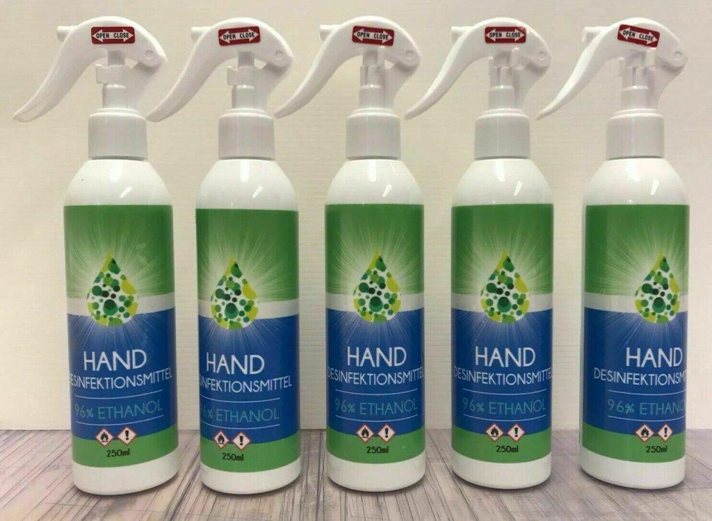 Hand Desinfektion Schutz Ethanol Basis Werbekaiser 250ml Sprühflasche