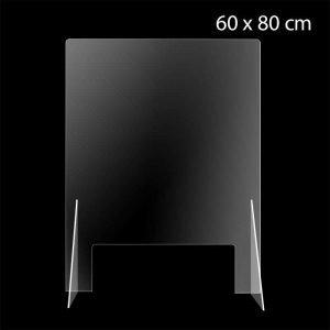 Spritzschutzscheibe, Stand, 60x80cm, Corona Prävention