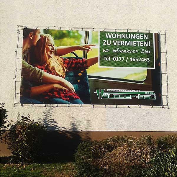 Vermietungsbanner, Makler-Banner, Spanntuch, Verkaufs-Banner by Werbekaiser™