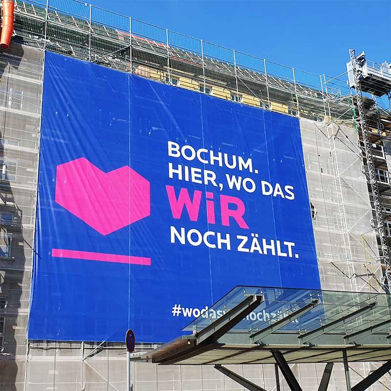 Stadt-Bochum-Banner-Mesh- Wo Das Wir Noch Zählt -Werbekaiser