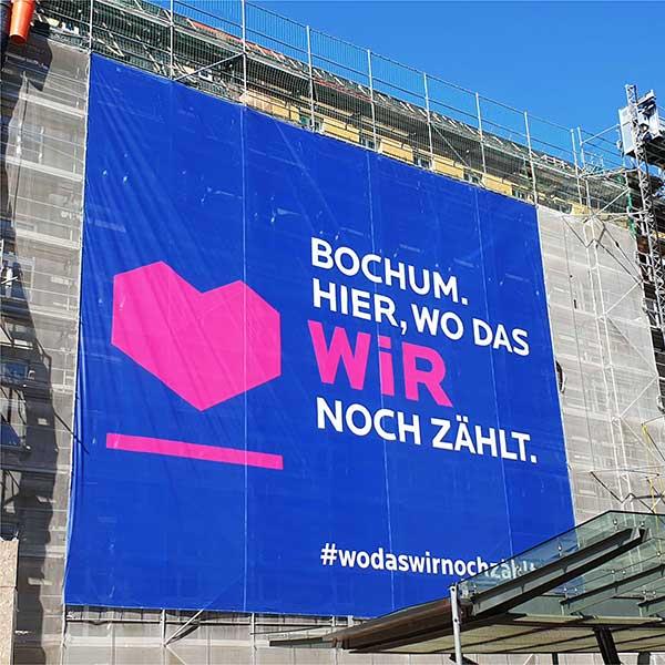 Stadt-Bochum-Wir-Mesh-Banner-Wo das Wir noch zählt - Werbekaiser
